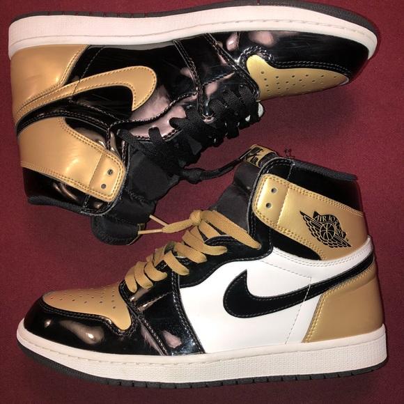 """new product 0ada2 94515 Air Jordan Retro 1 """"Gold Toe"""""""